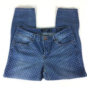 Polka Dot Max Jeans mid rise crop